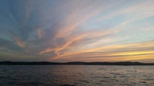 Sunset over the lake!